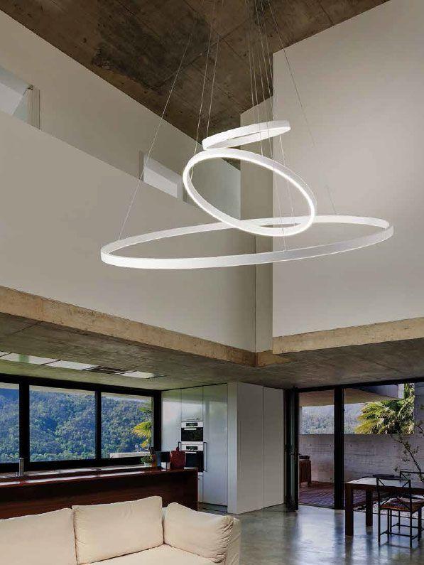 lámpara led redonda