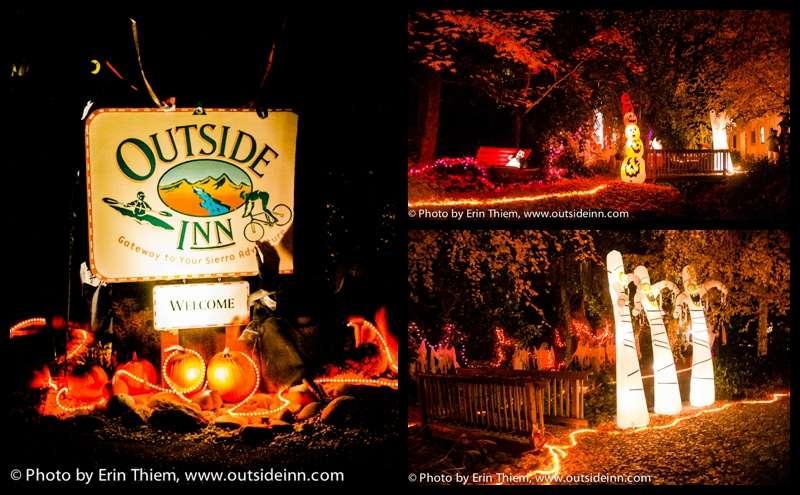 Outside Inn Halloween decorations