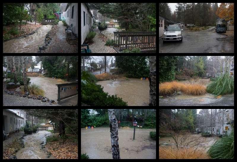 Flooding Outside Inn creek, Nevada City