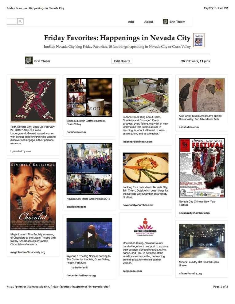 Pinterest Board Friday Favorites