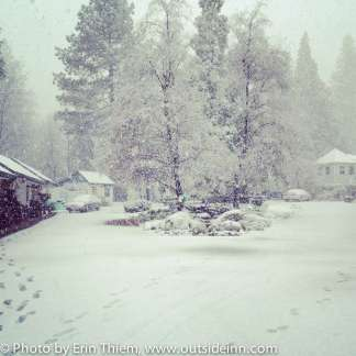 Nevada City's Outside Inn Accommodation in Snow