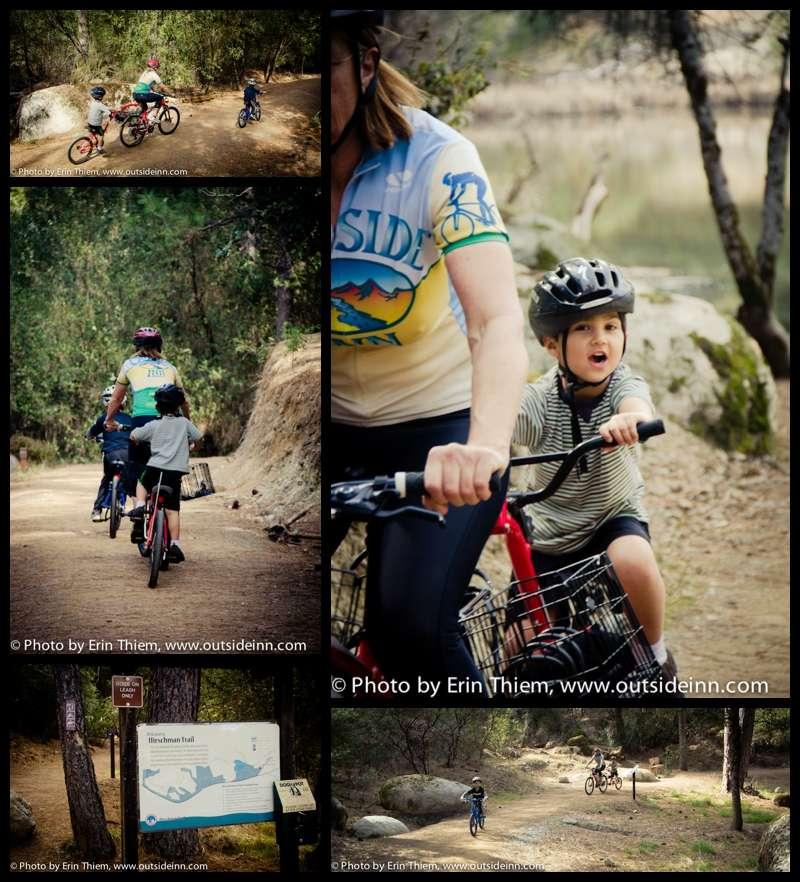 Outdoor adventures with kids, biking to Hirschman's Pond, Nevada City