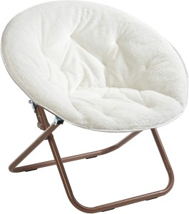 Urban Shop Faux Fur Saucer Chair