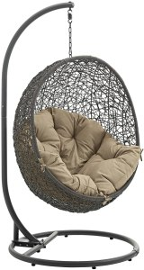 Modway Hide Rattan Outdoor Lounge Egg Swing Chair
