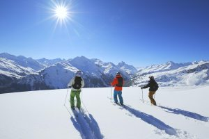 Skiing in st anton