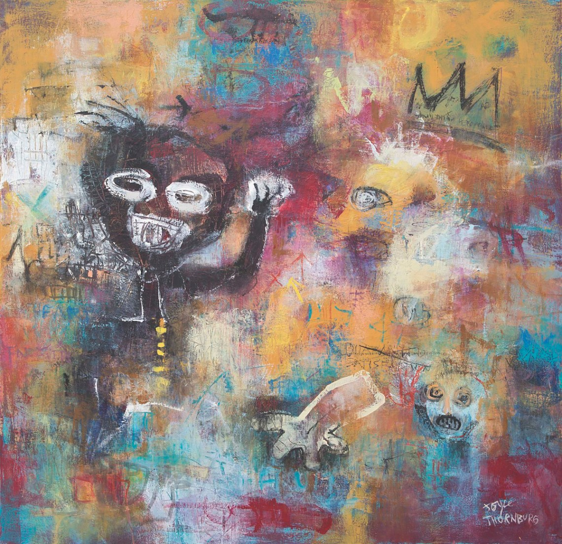 "Title Homage Medium Acrylic on Canvas Size 30"" x 31"""