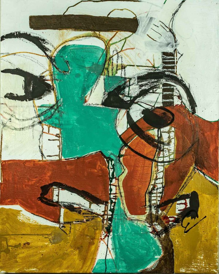 Title Untitled 3 Medium Mixed media Size 48in x 32.5in.