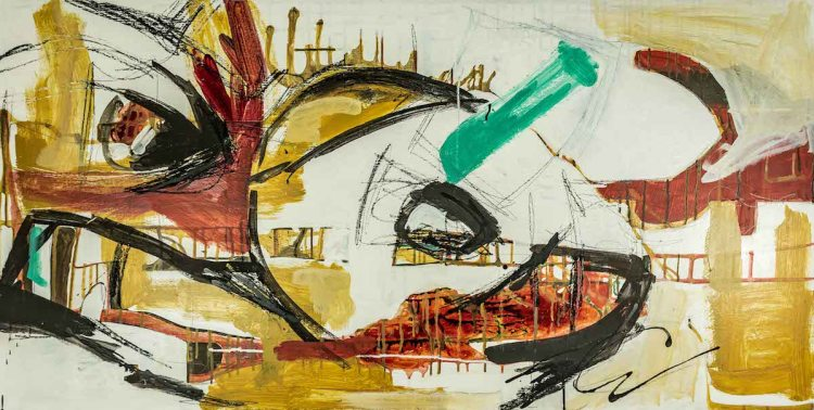 Title Untitled 2 Medium Mixed media Size 48in x 24in