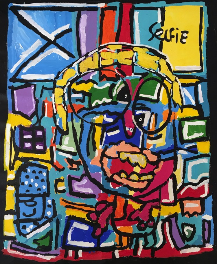 selfie Medium Acrylic on linen Size 122 x 94 cm
