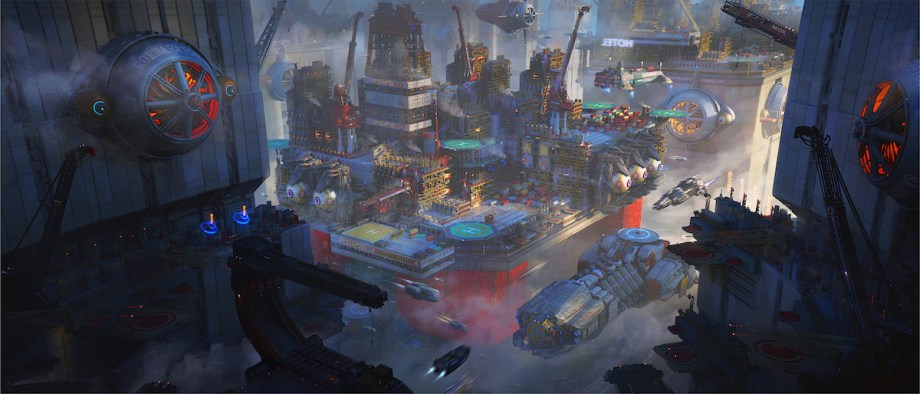 City Rig System Medium Digital Art Size 3000×1286