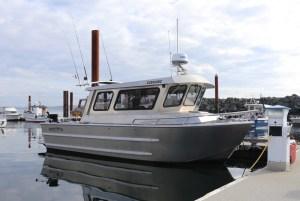 northwest aluminum craft boat moored in bc