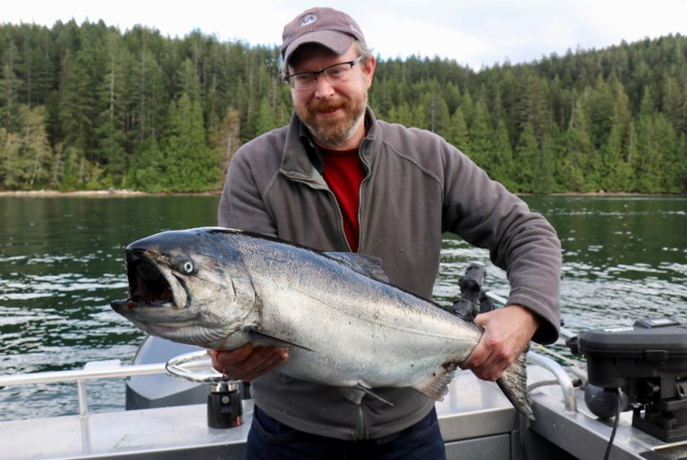 big chinook salmon bc fishing
