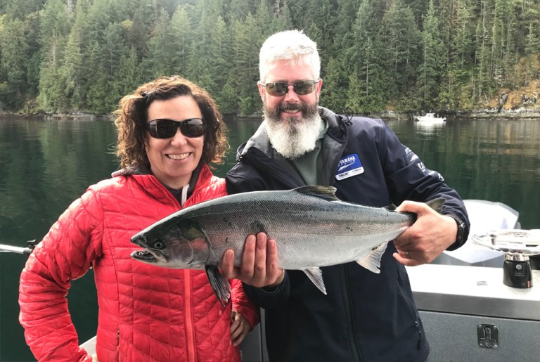coho silver salmon campbell river bc
