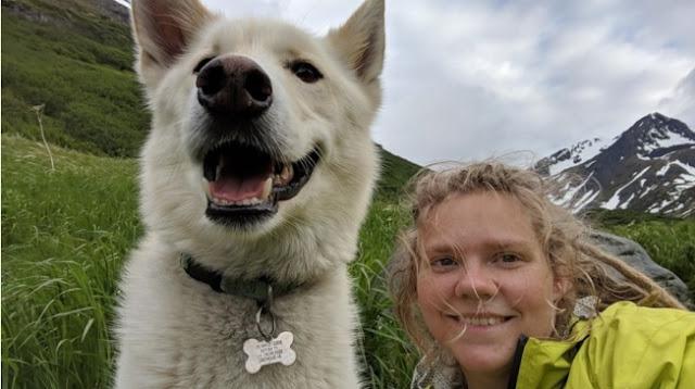 """ฮีโร่สุนัขฮัสกี้ช่วยชีวิตนักปีนเขาที่ """" หูหนวก """" และ """" บาดเจ็บ 🐶🐕🤝🤲🏻🧗🏻👂🏻❌🤕👍🏻👌🏻"""