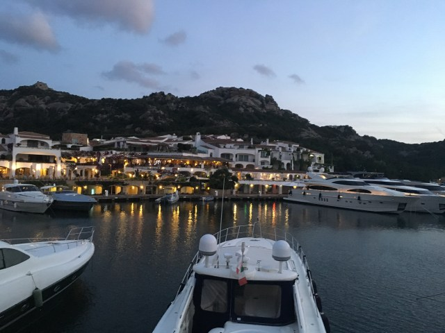 view of the yachts across from grand hotel poltu quatu