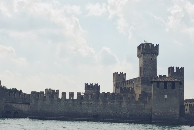 Scaligera castle lake garda italy