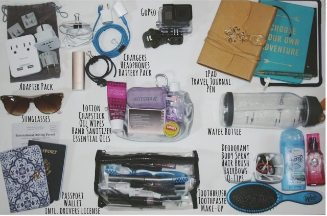 What to pack in backpack when travelling
