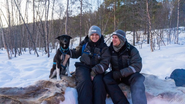 Trasti & Trine dog sledding journey Alta, Norway couples who dog sled