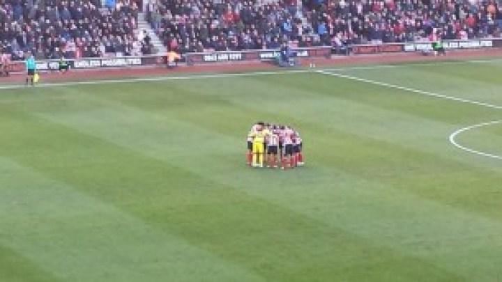Saints' pre-match huddle