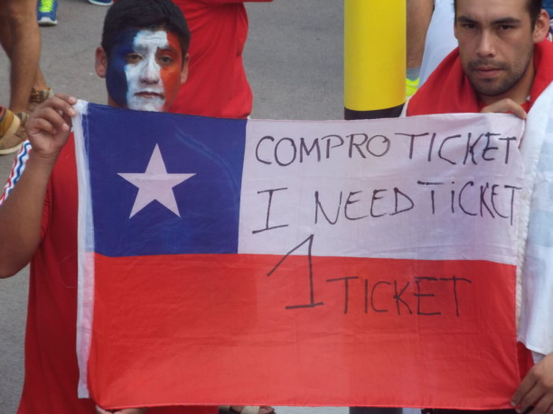 Chile fans World Cup 2014