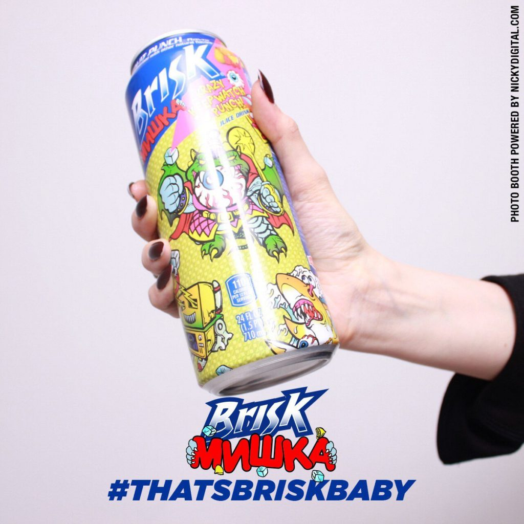 Brisk X Mishka Can Launch Photo Booth by OutSnapped