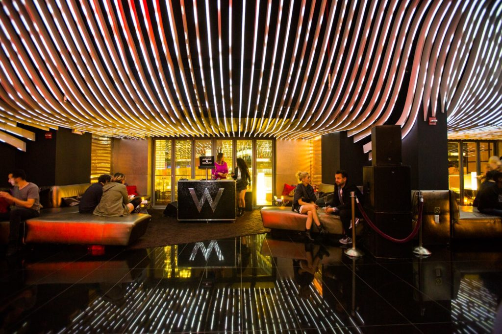 W Hotel Downtown Lobby woudl be perfect for a Hotel Photo Booth