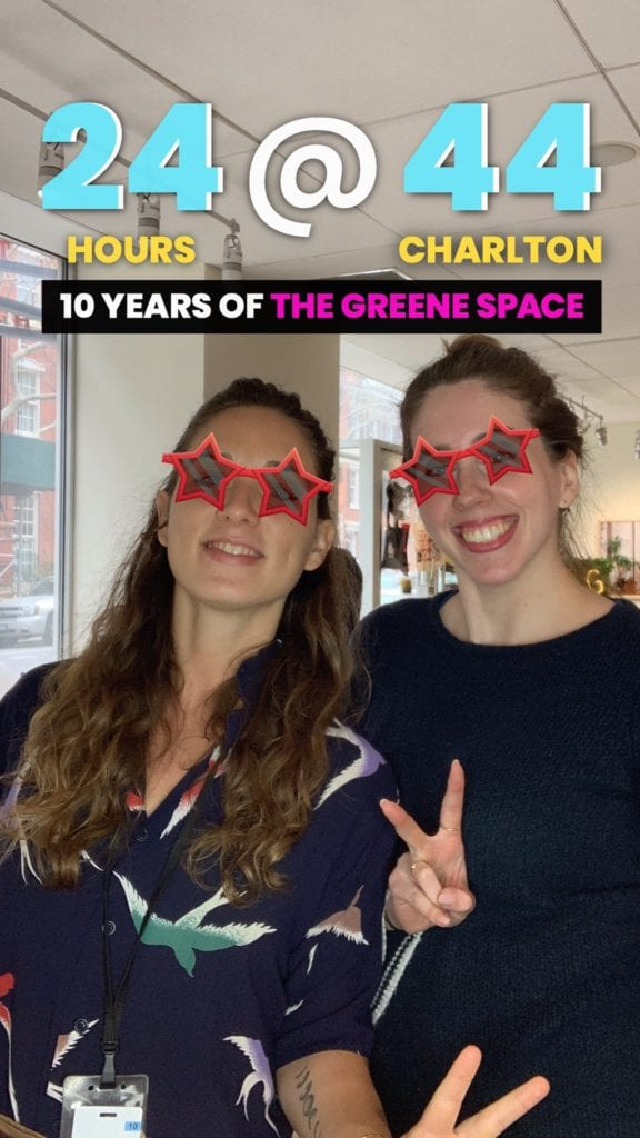 Instagram Story Format Photo Booth Rental NYC for 24@44 Greene Space Photo Booth Activation by OutSnapped
