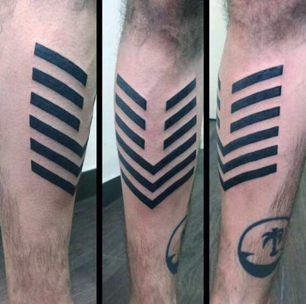 Black Lines Arrow Tattoo