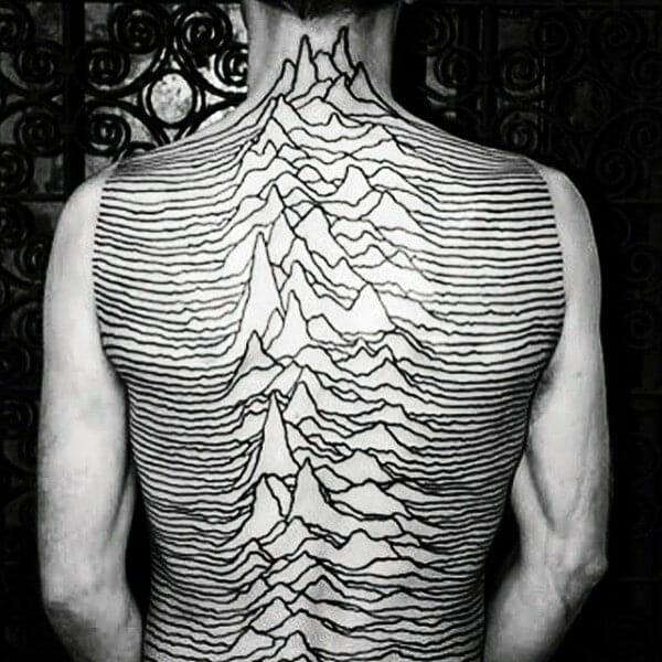 Dark Lines & Peaks Tattoo
