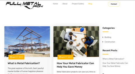 Visit the Latest News of Full Metal Iron