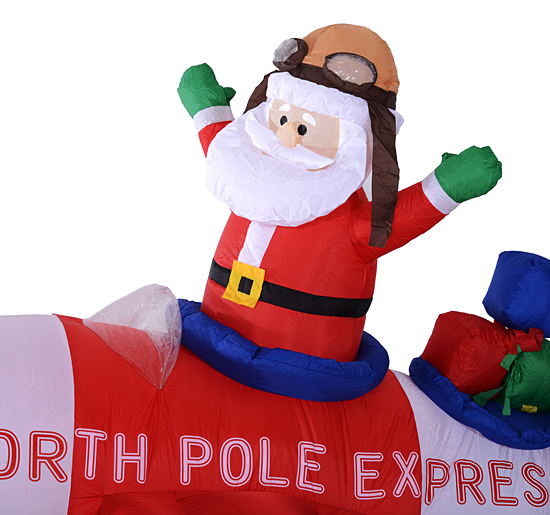 Inflatable Santa Christmas Airplane