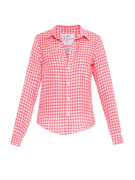 17 Ways to Wear a Gingham Button-Down Shirt