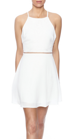 White Embroidered Dress $39.99