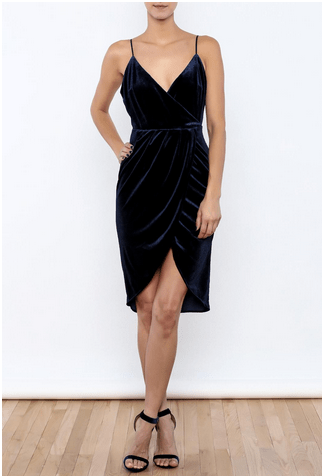 The Daily Find: Velvet Wrap Dress