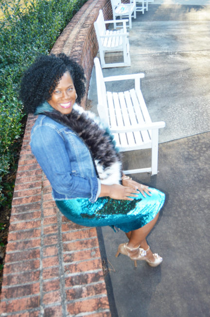 Blogger Style: Two Tone Sequin Skirt