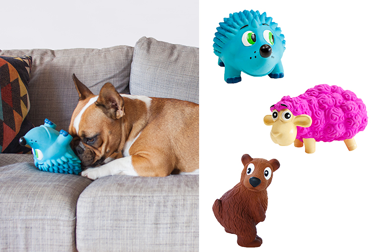 durable rubbler dog toy