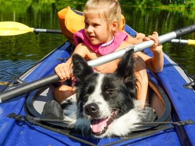dog kayak