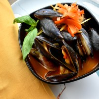 Penn Cove Mussels in Red Curry Broth