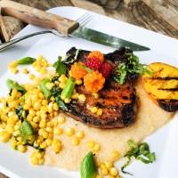 Balsamic & Hot Honey Grilled Pork Chops