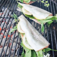 Grilled Rainbow Trout with Lemon & Fresh Herbs