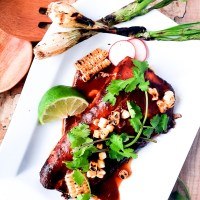 Grilled Red Chile Halibut