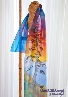 Guardian Tree Silk Hand Painted Silk Scarf