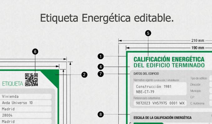modelo etiqueta energetica certificado