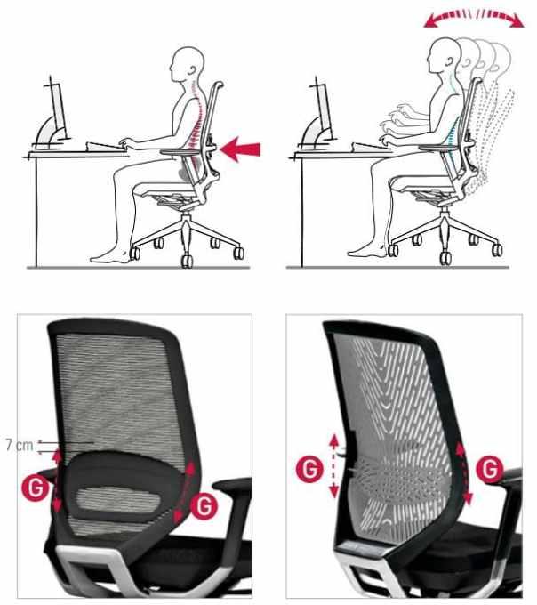 regulacion lumbar en sillas