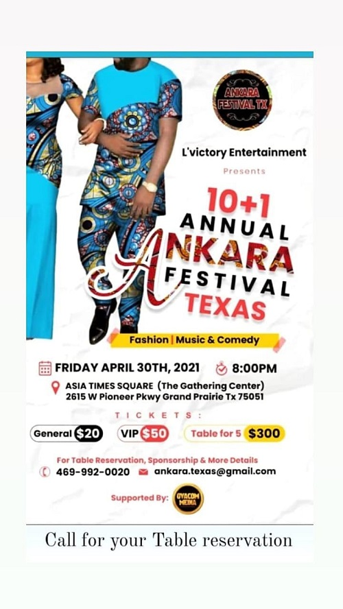 L'Victory Entertainment Set To Storm Texas With Ankara Festival