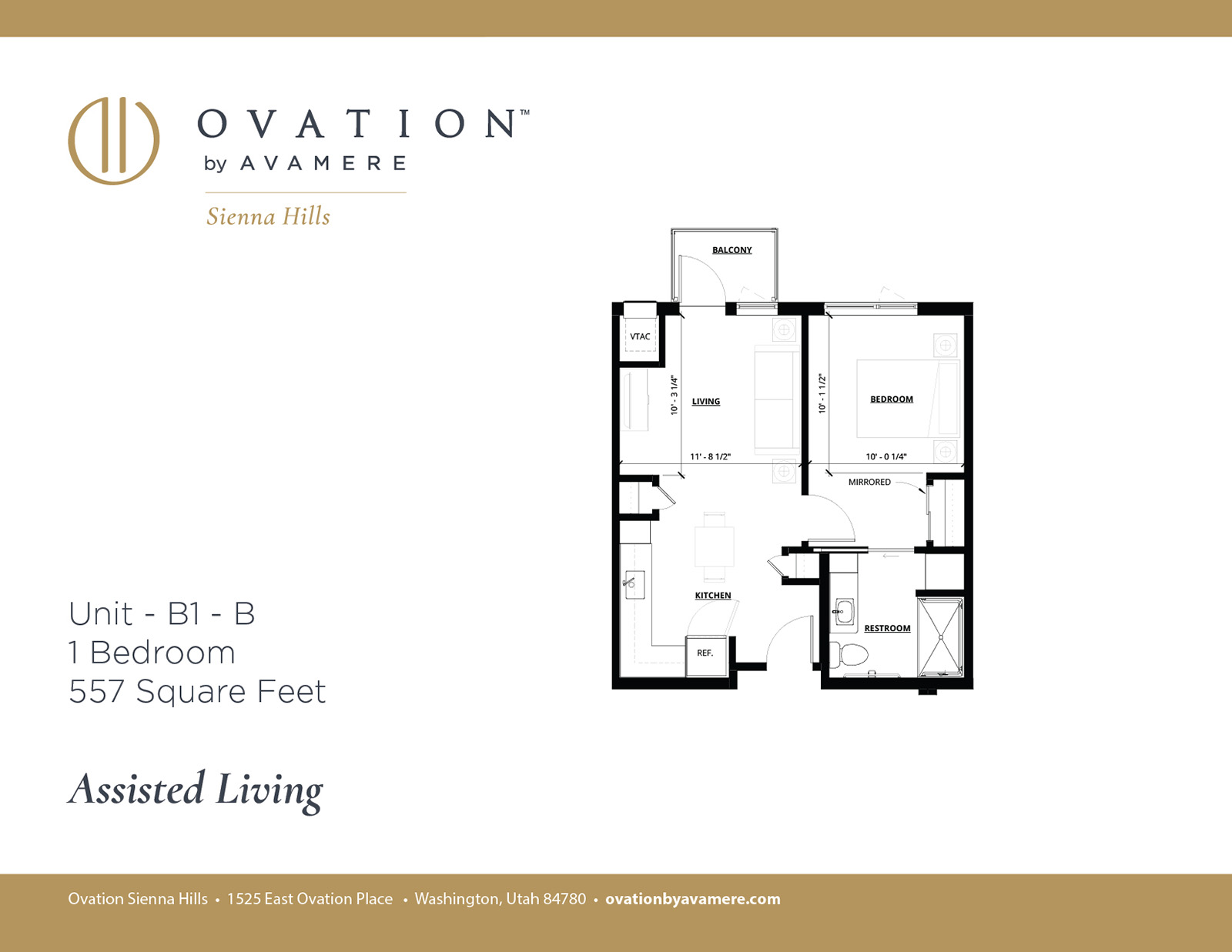 Assisted Living | One Bedroom