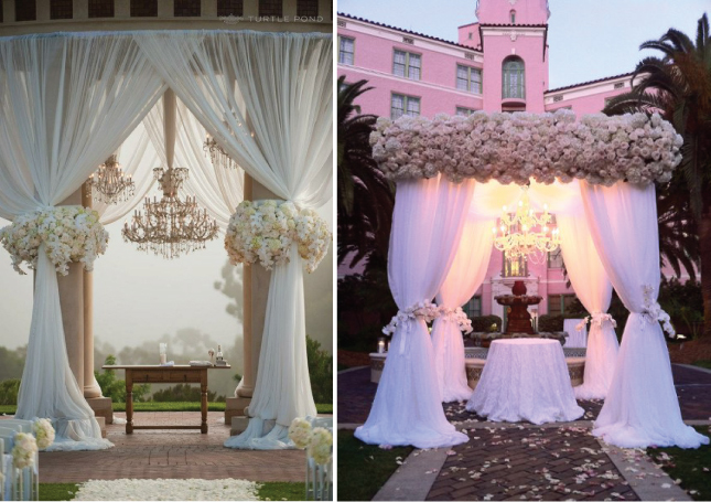 Floral Canopies Chuppah Ideas Ovations Event Amp Wedding Planners