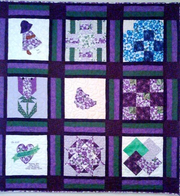 My Purple Cur, 54 x 54 inches, by O.V. Brantley, 2002.