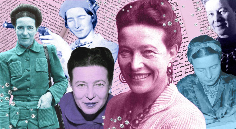 Resultado de imagem para Colage de escritoras y feminismo Simone