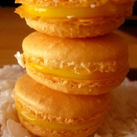 a lesson learned: nut-free coconut + pineapple macarons